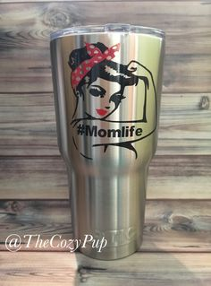 RTIC Tumbler, Mom Life Cup, Momlife Stainless Steel RTIC Tumbler, Gift for Mom, Gift for Her, Christmas Gift, Mother's Day Gifts, RTIC Decal by TheCozyPup on Etsy