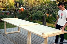 EMMIXAD: Trädgårdsbord tar form