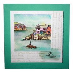 """This Card was made by Anna Flanders using the new """"Harbour Village"""" stamp set designed by Sharon Bennett for Hobby Art Stamps"""