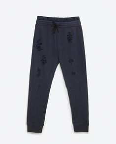 Imagen 8 de PANTALÓN CIRCULAR ROTOS de Zara Zara, Trousers, Sweatpants, Fashion, Pants, Men, Tennis, Trouser Pants, Moda