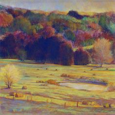 Hayfield Palette by Ken Elliott - Small (Giclee Print) Artist Painting, Painting Prints, Painting & Drawing, Pastel Drawing, Landscape Art, Landscape Paintings, Landscapes, Papier Paint, Make Pictures