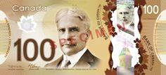 $100 Canadian dollars polymer banknote   #money #currency #banknotes