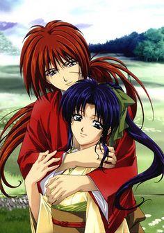 """""""Rurouni Kenshin"""" - Kenshin Himura and Kaoru Kamiya."""