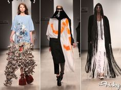12 Wild Looks From Central Saint Martins Fashion Students Weird Fashion, Fashion Show, Central Saint Martins, Student Fashion, Contemporary Fashion, Celebrity Gossip, Real Women, Kimono Top, Popular