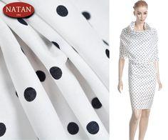 12 Batyst  bawełniany - cotton  elastan groszki