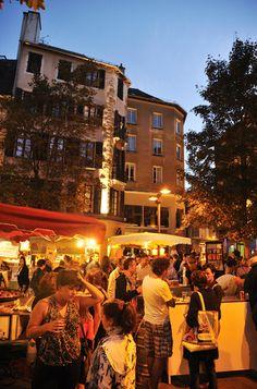 """Photo Ville de Rodez """"Marché nocturne à Rodez"""" #villederodez #rodez #marché"""
