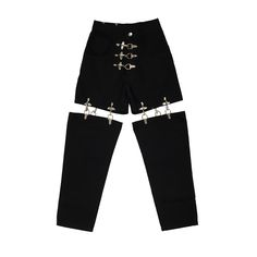 FIRE MAN METAL JOINT PANTS -BLACK- - M.Y.O.B NYC ONLINE STORE