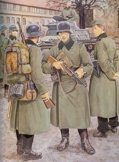 Tyske soldater I kastelet I København den 9 april 1940