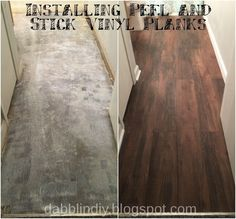 Peel And Stick Vinyl Plank Flooring Diy Sprinkled With