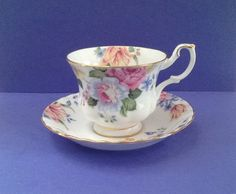 "Vintage Royal Albert Bone China England ""Beatrice"" Teacup Set by Whitepearlfinds on Etsy"