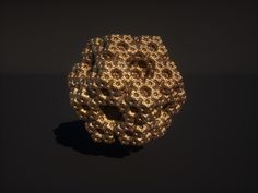 A render from a fractal dodeca piece