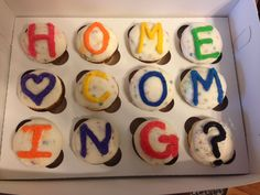 How to ask someone to Homecoming! (Confetti Cupcakes with Rainbow Chip Frosting)