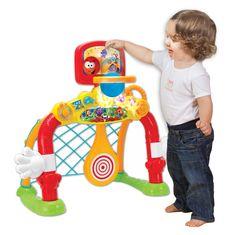 Ta interaktywna BRAMKA, to pomysłowa i wielofunkcyjna zabawka, pozwalająca grać aż w 4 różne gry sportowe!