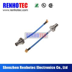 BNC Female connector to R/A MCX connector Cable