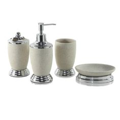 Dream Bath Gravel Knight Bath Ensemble  - Created by artisans who specialize in a particular material or craft, each piece is produced in limited quantities to allow for traditional production methods, fine craftsmanship and meticulous finishing.  We are particularly proud of the hand-painting process done by skilled painters, each with more than 8 years of experience, so each finished product is a unique work craft.  Dream Bath brings you luxury, style and comfort at a very affordable price