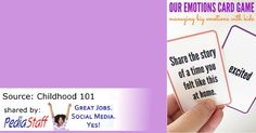Free Emotions Card Game Printable - pinned by @PediaStaff – Please Visit ht.ly/63sNtfor all our pediatric therapy pins