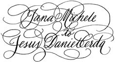 Diy Calligraphy Bride And Groom Digital Name Artwork For