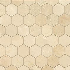 Crema Marfil Marble Hexagon Mosaic Polished Tiles (Box of 10 Sheets) | Overstock.com Shopping - Big Discounts on Floor Tiles