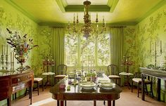 Suzanne Rheinstein dining room in Rooms for Living