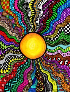 colorful doodle art - Google Search