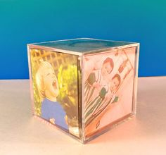 A cube picture frame that had pics of her grandkids in it and sat on her dresser: Photo Cubes, Retro Pictures, Acrylic Photo, Vanity Decor, Frame Display, Ol Days, Good Ol, Desk Accessories, Office Decor