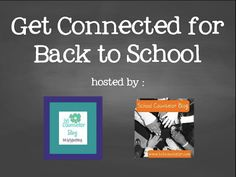Get Connected for Back to School! Share first day of school pics #scday1, office pics #scoffice & hangout with school counselor bloggers #SCOA! #scchat