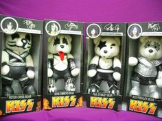 ?RARE Jean Paul Bear Spencer Gifts KISS Rock Band Bear Limited Collector's ITEM?