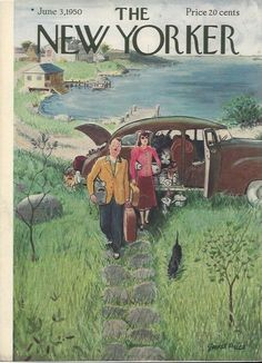 COVER ONLY ~The New Yorker magazine ~Garrett PRICE ~ June 3, 1950 ~Cat cottage