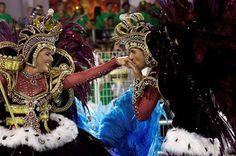 Carnaval em São Paulo / Mestre-sala e porta-bandeira de Escola de Samba