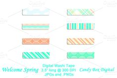 Check out Welcome Spring Digital Washi Tape by candyboxdigital on Creative Market