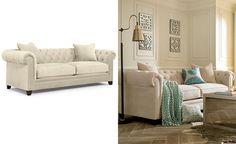 Lovely Martha Stewart Chesterfield sofa