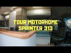 TOUR PELO MOTORHOME COM BANHEIRO E SOFÁ CAMA #152 - YouTube Motorhome, Chevrolet Logo, Trailers, Youtube, Campsis, Pull Out Bed, Tinkerbell, Bath Room, Traveling