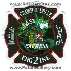 Crawfordsville Fire Department Engine 2 Patch Indiana IN