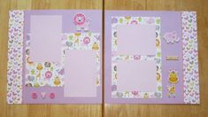 Baby Girl Scrapbook Page - Baby Girl Scrapbook Layout - 12 x 12 Scrapbook - Baby Girl Gift - Baby Girl Memories - Baby Girl First Photos - Bridal Shower Scrapbook, Baby Girl Scrapbook, Baby Scrapbook Pages, Handmade Scrapbook, Birthday Scrapbook, Scrapbook Designs, Scrapbook Sketches, Scrapbook Page Layouts, Scrapbook Albums