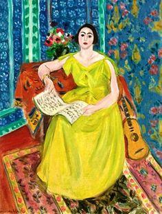 Henry Matisse, La femme en jaune, 1928