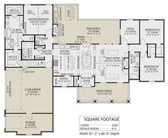 Best House Plans, Dream House Plans, House Floor Plans, Building Plans, Building A House, Floor Plan Drawing, Modern Farmhouse Plans, House Blueprints, Sims House