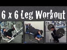 6 X 6 Leg Workout Routine - YouTube