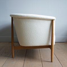 Rare Nanna Ditzel Three-Person Sofa | Lawton Mull knoll boucle
