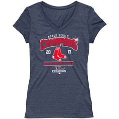 Boston Red Sox 2013 World Series Champions Women's Triblend V-neck Bling T-Shirt - MLB.com Shop ...AND I Just Bought it !!!