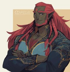 Dude looks like Ganondorf (except daddy version if you know what i mean lolol) Dnd Characters, Fantasy Characters, Fantasy Races, Fantasy Art, Anime Manga, Anime Guys, Character Concept, Character Art, Fire Giants