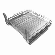 Ei enää tylsiä kuivauskaappeja! Ratkaisuksi laatikkoon asennettava Maxima Combi! Kätevä korivaunu astioiden kuivatukseen ja säilytykseen. Sisältää valutusaltaan. Etusarja ja sivukiinnitteinen, Soft Close -hidastinmekanismi. Sopii M60 leveään kaappiin, jossa on 16 mm:n runko. Mitat (LxSxK): 568 x 500 x 110 mm, kantavuus 30 kg. #keittiö #kitchen #kök #maximacombi #gripshop #toimivampikoti #keittiökaluste #keittiökalustemekanismi #kalustemekanismi