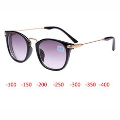 New Myopia Sunglasses, Women Myopia Eyeglasses  Frame with sunglasses lens, Myopia Eyewear Reading Glasses -100, -150,-200,-250