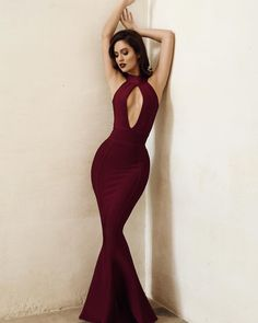 """Fishtail perfection in the Ricadonna plum maxi dress. Shop:houseofcb.com"""
