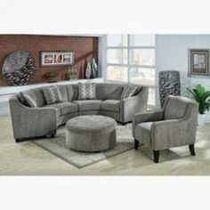 Indoor beauty enhancement by the use of the round sectional sofa - Elites Home Decor Small Sectional Sofa, Leather Sectional Sofas, Living Room Sectional, Couches, Sofas For Small Spaces, Small Living Rooms, Living Room Sets, Living Spaces, Sofa Design