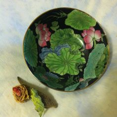 Chinese Porcelain Chinoiserie Water Lily Bowl by PamsPawsJewelry
