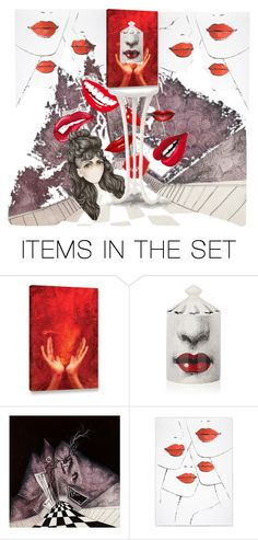 """""""Red Lips"""" by mynextlife ❤ liked on Polyvore featuring art"""