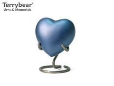 Terrybear Monterey Blue Heart Keepsake. This Keepsake can hold a small amount of cremated remains.