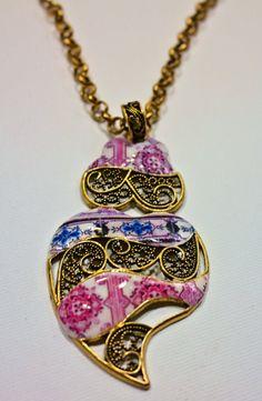 Conjunto de collar y pendientes con réplica por LasJoyitasDeMarie, $45.00