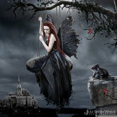 Gothic Fairy watching over those whom seek her strength.