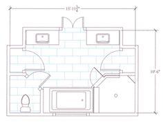Master Bathroom Floor Plans small master bathroom floor plans |  bathroom floor plans/free